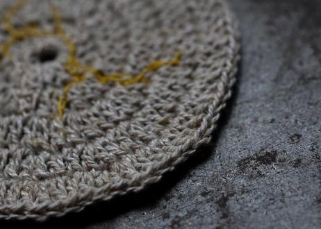 手編みの小敷物 蔦