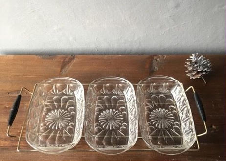 仏 アンティーク ガラス プレート