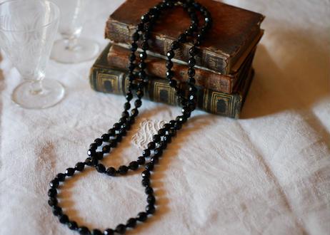 フレンチジェット 黒ガラスのネックレス ⑦french jet glass necklace