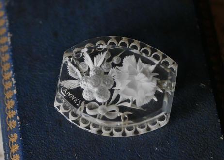 Lucite brooch