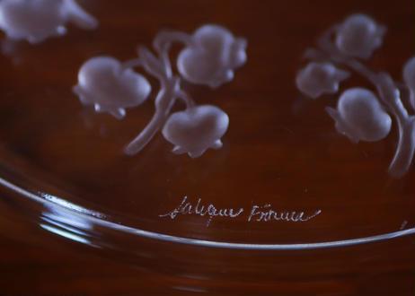 muguet A ラリックのスズランプレート ガラス