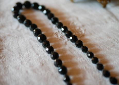 フレンチジェット ガラスのネックレス ③french jet glass necklace