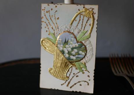 panier muguet,  card