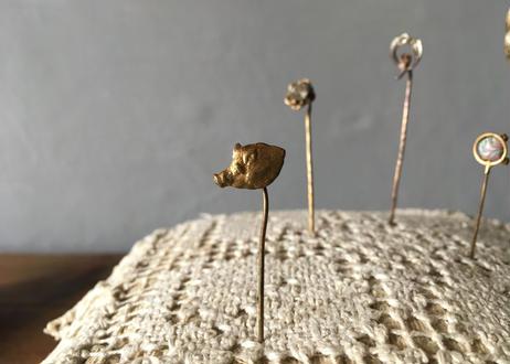 Frrench vintage イノシシ ハットピン フランスアンティーク
