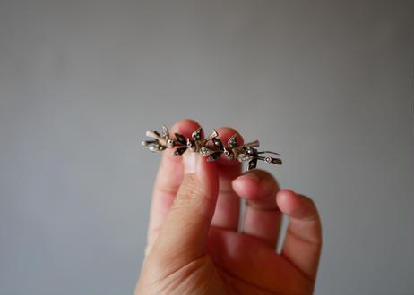 sterling silver, swallow brooch
