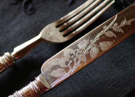 在庫→1 マザーオブパール シルバーカトラリー 英国ヴィンテージ ヴィクトリア時代