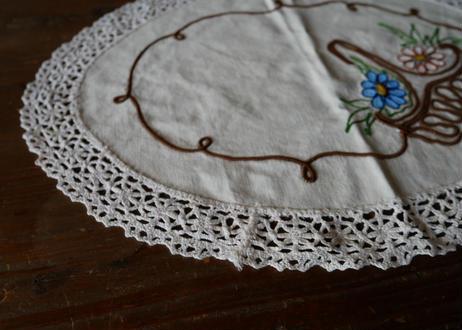 フランスアンティーク 刺繍 パニエ B