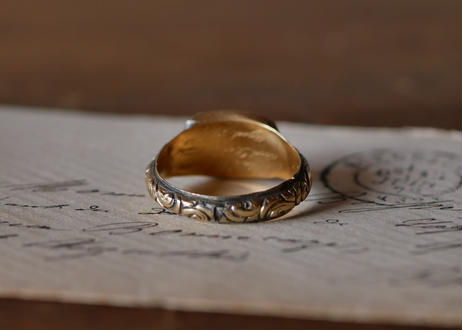 mourning jewelry, 18k ring