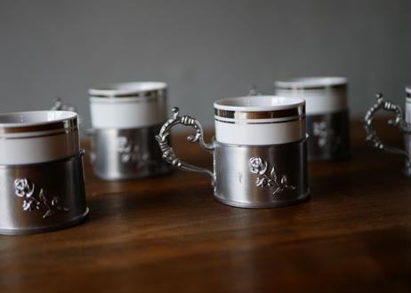 Pewter Rose cup +