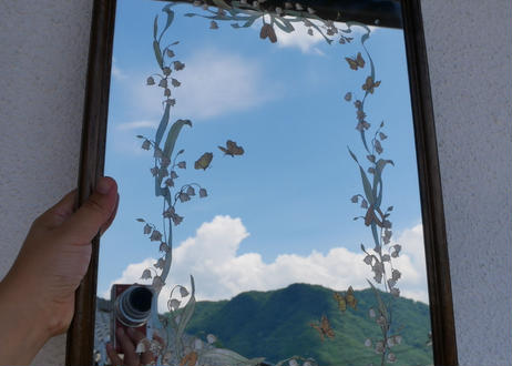 すずらんの鏡 フランスアンティーク mirror ミラー