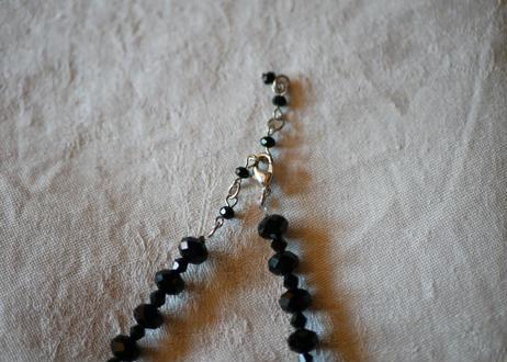 フレンチジェット 黒ガラスのネックレス ⑧french jet glass necklace
