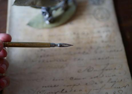 フランス アンティーク 宿り木 ヤドリギ インク ペン