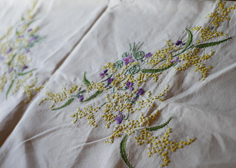 mimosa table cloth