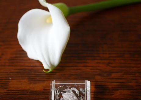 スワンのブローチ ルーサイト 白鳥 フランスアンティーク