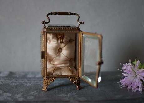 5. アンティーク ガラスのジュエリーボックス フランス ブロカント