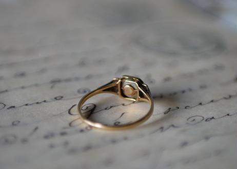 HOLD【商談中です】アールデコ 18金 ハーフパールのリング フランスアンティーク 指輪