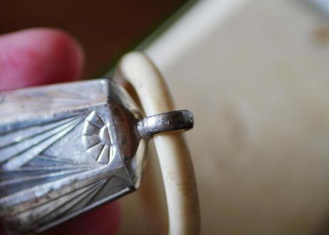 アールデコ期 ベビーラトル 純銀製 フランスアンティーク