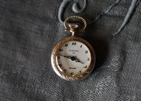 アールヌーボー期 婦人用 懐中時計 純銀製 稼働品 フランス ヴィンテージ アンティーク