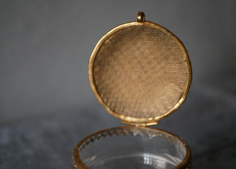 2. アンティーク ガラスのジュエリーボックス フランス ブロカント