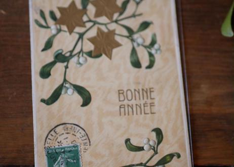no.3 宿り木 ポストカード Bonne année フランスアンティーク