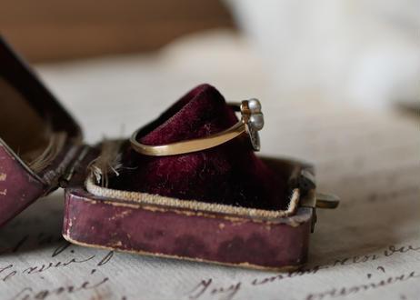 art deco 18k spanish ring