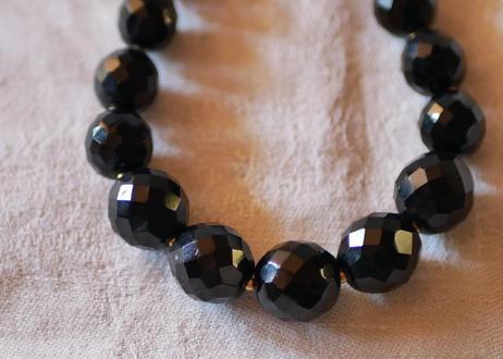 フレンチジェット 黒ガラスのネックレス ⑨french jet glass necklace