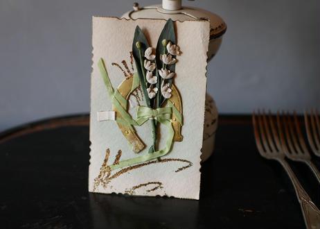 muguet bouquet, card