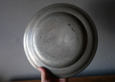 A pewter plate