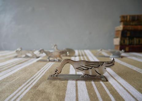 シルバー製 アニマル ナイフレスト 仏アンティーク 白鳥
