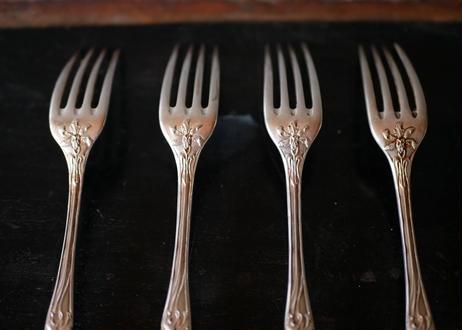 Iris , silver fork,  art nouveau