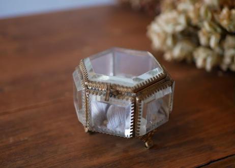 7.フランスアンティーク オルモル ガラスのジュエリーボックス