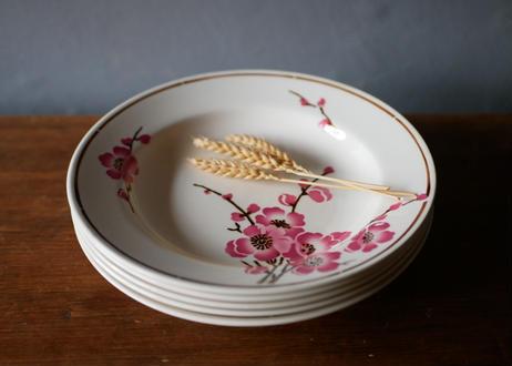 在庫→1 Fleurs de pêche  【桃の花】深皿 フランスアンティーク