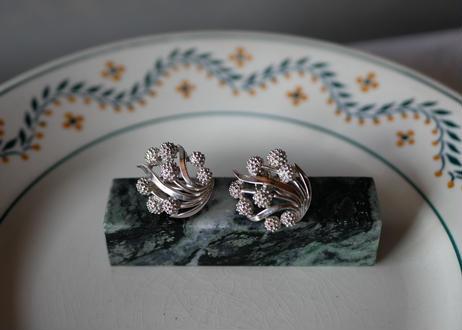 mimosa earrings, CROWN TRIFARI SILVER
