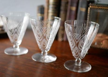 St-Luis サンルイ グラス  エッチング リキュールグラス
