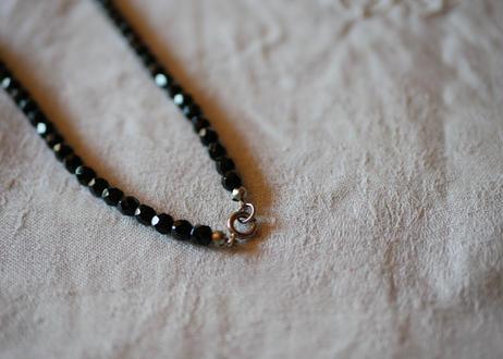 フレンチジェット 黒ガラスのネックレス ⑥french jet glass necklace