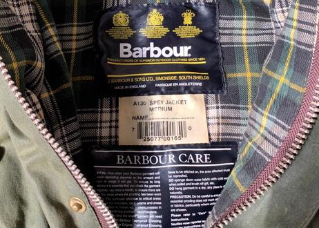 Barbour バブアー スペイジャケット