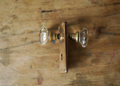ガラス&真鍮ドアノブ(日本) S-370