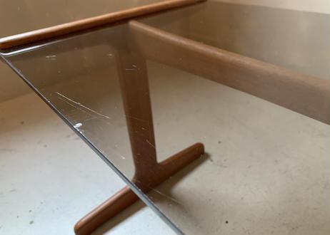 ガラストップ ネストテーブル