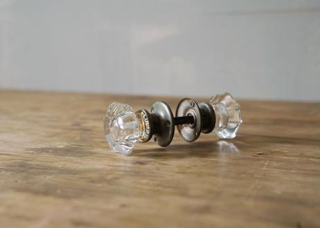 ガラス&真鍮ドアノブ(日本) S-386