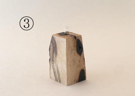 黒柿の一輪挿し<2>①~③