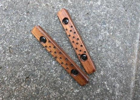 在庫品 M-lok Wood Panel チーク ツヤなし色・ディンプル