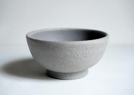MN03 : bowl / S     white gray blue  グレー強め