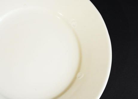 園08 : リム皿 白 中