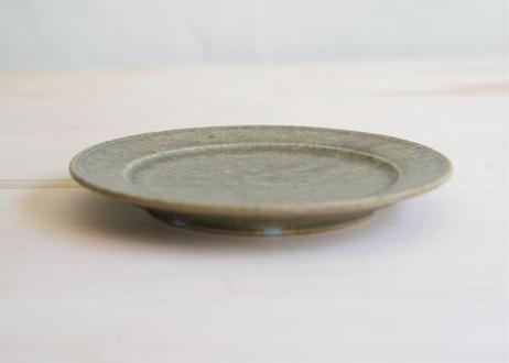 小林耶23 5寸リム皿 灰釉