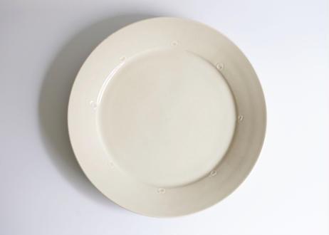 園08 : リム皿 白 大