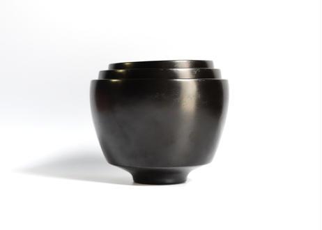 杉05 :  筒型椀 小 / 黒
