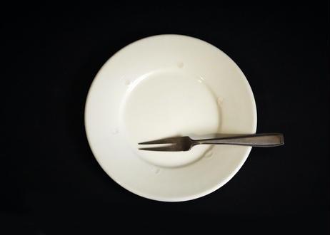 園07 : リム皿 白 小