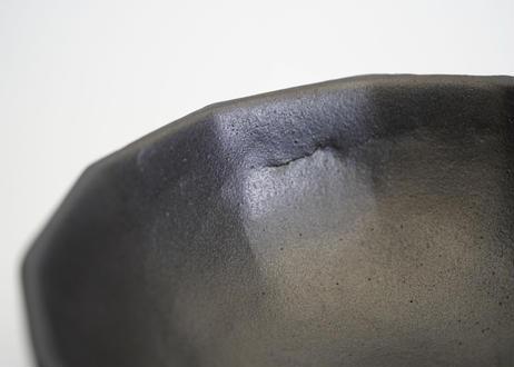 安部05 : 黒釉面取ボウル