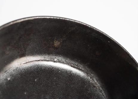 八09 楕円グラタン皿 黒  / 大