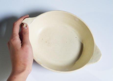 八09 楕円グラタン皿 白  / 大